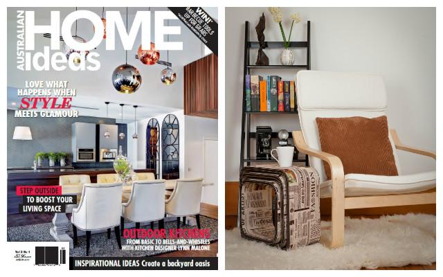 Mocka's cosy corner in Australian Home Ideas Magazine