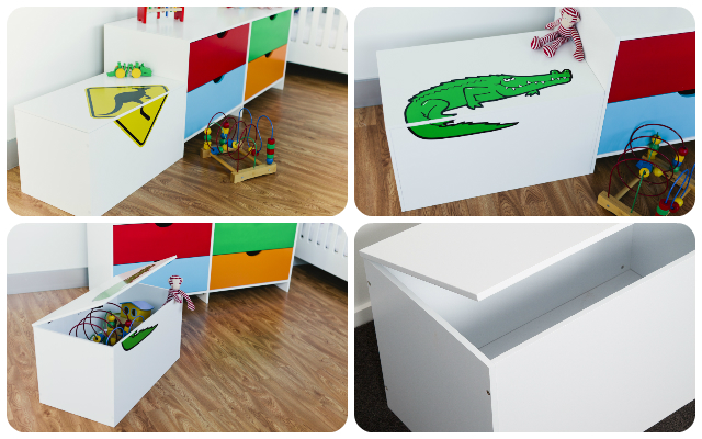 Keep toys tidy in a Mocka Toy Box