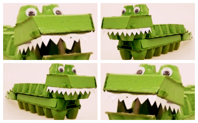 Egg Carton Crocodile Crocodile