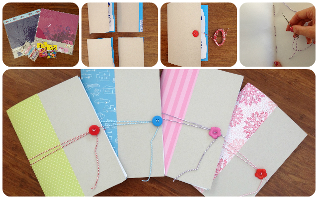 Creative notebooks to make with your children