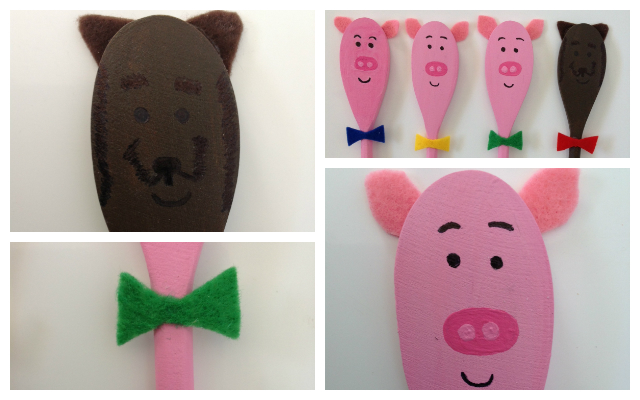 Craft Story Telling with Wooden Spoon Puppets