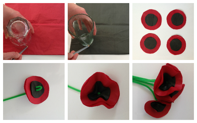Mocka Anazac Poppy Flower Craft