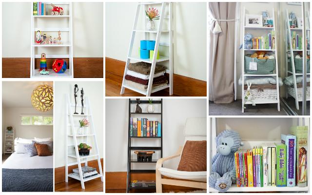 Five Ways to use a Mocka Ladder Shelf