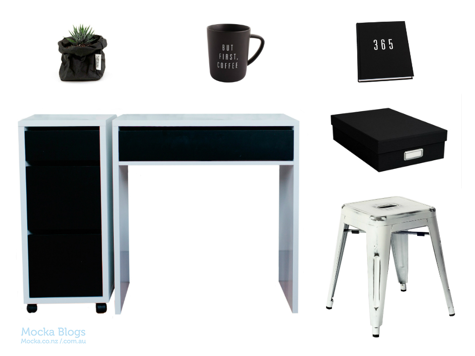 Mocka Monochrome Desk