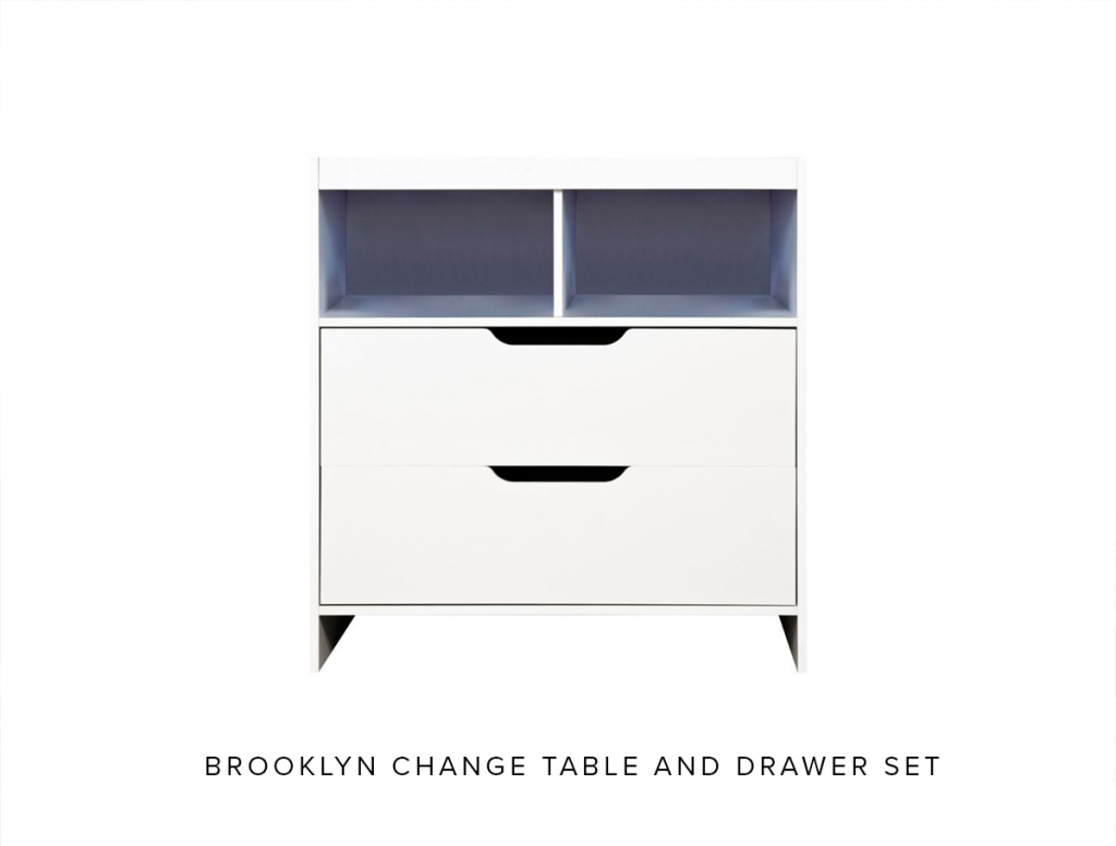 Brooklyn change tabel and drawers set
